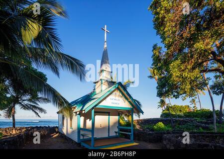 Estados Unidos, Hawaii, Big Island, Kona, la iglesia católica de St Peter's by the sea