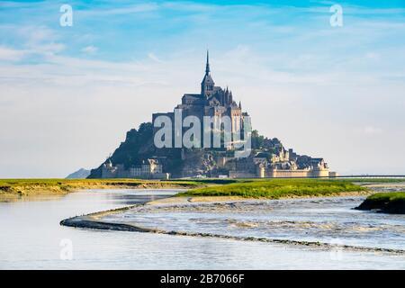 Francia, Normandía (Normandie), Departamento De La Mancha, Le Mont-Saint-Michel.