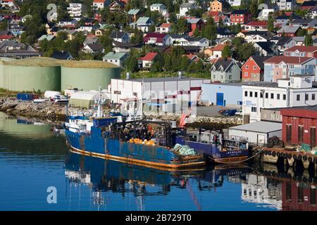 Pesca Trawler, Muelles Comerciales, Ciudad De Tromso, Condado De Troms, Noruega, Escandinavia