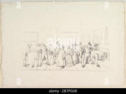 El público en una exposición, 1831.