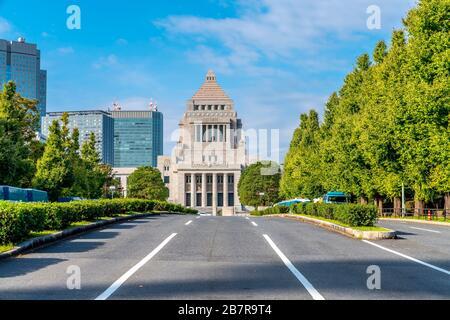 Edificio de la dieta Nacional en Tokio, Japón