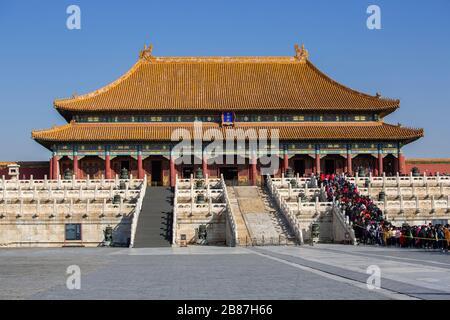 La Ciudad Prohibida en Beijing, China Foto de stock