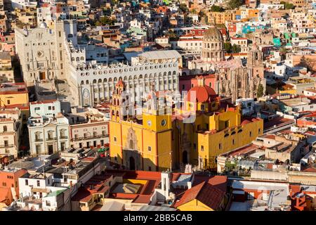 Ciudad de México, Guanajuato vista desde Monumento a el Pïpila. Guanajuato, Patrimonio de la Humanidad de la UNESCO