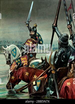 Ilustraciones de animación de campañas militares inglesas y francesas y escenarios de guerra alrededor de 1800 para incluir la Revolución Francesa y las guerras napoleónicas. Estas ilustraciones fueron creadas alrededor de 1900