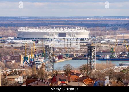 Rusia, Rostov-on-Don - 28 de octubre de 2018: Estadio de fútbol Rostov Arena. El estadio de la Copa Mundial de la FIFA 2018.