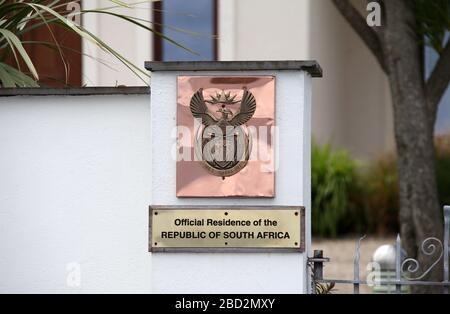 Residencia oficial de la República de Sudáfrica en Sandycove, en el condado de Dublín Foto de stock