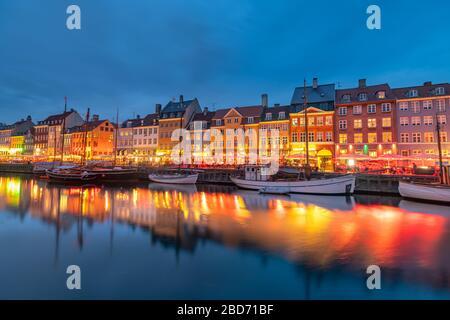 Hermosa ciudad de Copenhague en Dinamarca