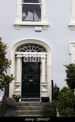 House at Dalkey, un suburbio de lujo en el condado de Dublín Foto de stock