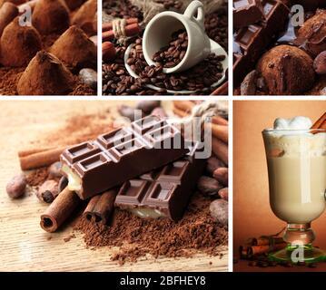Colección de café y chocolate