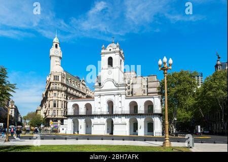 El Cabildo, Museo Histórico Nacional, antiguo ayuntamiento sede del gobierno durante la época colonial, Buenos Aires, Argentina