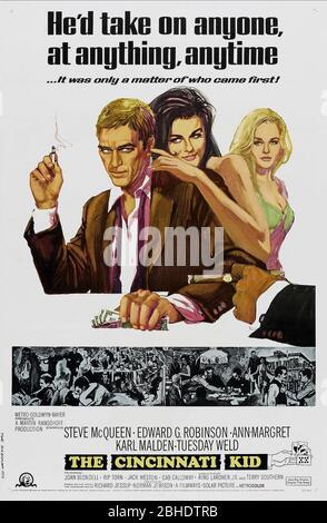 STEVE MCQUEEN, ANN-MARGRET, Tuesday Weld póster de película, el CINCINNATI KID, 1965