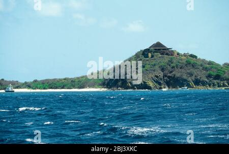 Isla Necker en las Islas Vírgenes Británicas. La isla del Caribe es propiedad de Sir Richard Branson, presidente del Virgin Group.