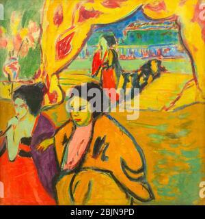 Teatro Japonés, Ernst Ludwig Kirchner, alrededor de 1909-1910,