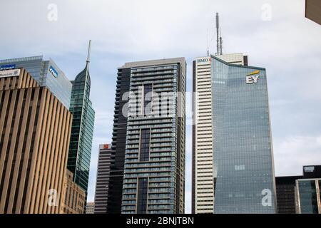 Rascacielos en el centro de Toronto durante Covid-19
