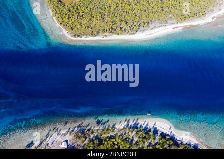 Puerto De Almonu Del Atolón De Apataki, Tuamotu Archipel, Polinesia Francesa