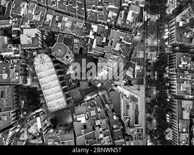 Vista aérea de la Basílica de Santa María del Pi Iglesia Basilica Barcelona Cataluña España