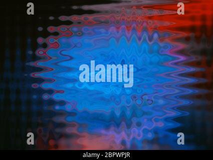 El colorido y abstracto patrón de onda de luz en fondo negro