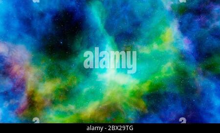 Nebulosa y galaxias, planetas en el espacio, papel pintado de ciencia ficción. Belleza del espacio profundo. Miles de millones de galaxias en el universo. Fondo de arte cósmico