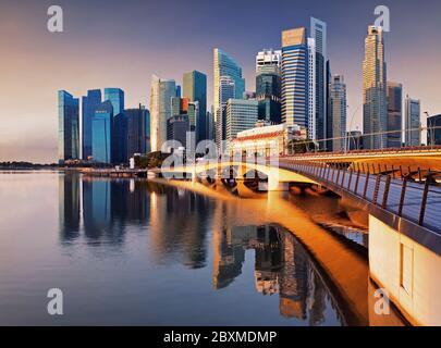 Perfil de Singapur - centro de la ciudad