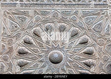 Sultan Hasan complejo, El Cairo, detalle de la puerta de entrada original
