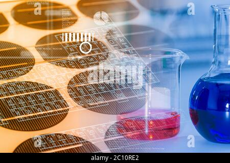 científico trabajando para el análisis y el concepto de ciencia.
