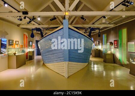 Francia, Normandía, departamento de la Mancha, Cotentin, Saint-Vaast-la-Hougue, l'île de Tatihou, museo marítimo