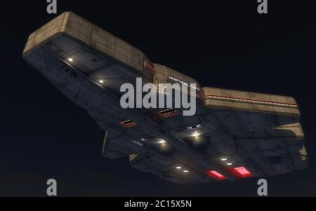 3D Render. Objeto Volador No Identificado