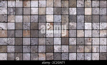 Baldosas de cerámica travertino, mosaico cuadrado diseño textura sin costuras