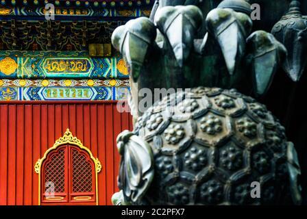 El templo lama Foto de stock