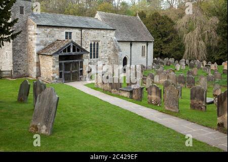 St Gregory's Minster en Kirkdale cerca de Kirkbymoorside, North Yorkshire, Reino Unido Foto de stock