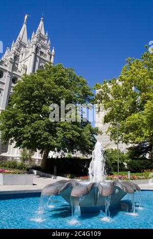 Templo Mormón en Temple Square, Salt Lake City, Utah, EE.UU., Norteamérica
