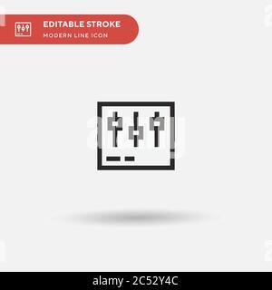 Icono de vector simple de postproducción. Ilustración plantilla de diseño de símbolos para elemento de interfaz de usuario móvil web. Pictograma moderno de color perfecto en trazo editable. Iconos de post producción para su proyecto de negocio