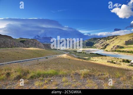 La vista sobre el Chalten, Patagonia, Argentina
