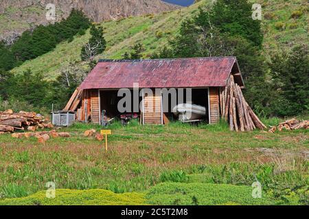 El edificio en el Chalten, Patagonia, Argentina