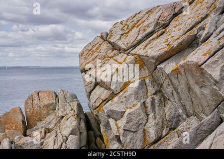 Rocas en Dalkey en la ciudad de Dublín, Irlanda. Foto de stock