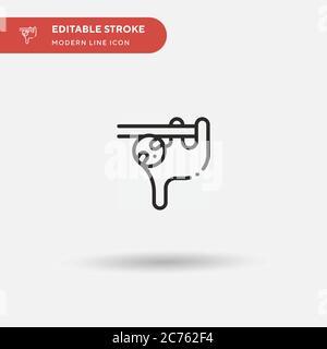 Icono de vector simple de perezoso. Ilustración plantilla de diseño de símbolos para elemento de interfaz de usuario móvil web. Pictograma moderno de color perfecto en trazo editable. Iconos perezosos para su proyecto de negocio