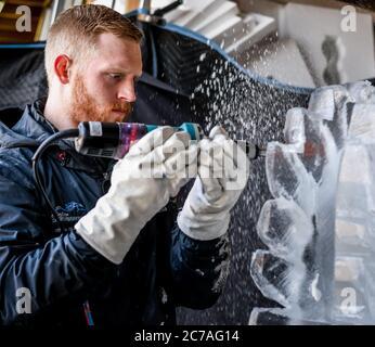 Ice Carver esculpir bloque de hielo con dremel de energía eléctrica