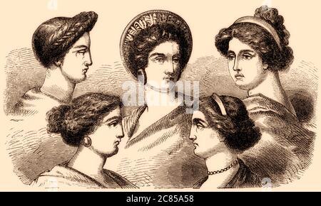 Fácil peinados antigua grecia Galería de tendencias de coloración del cabello - Peinados tradicional en la antigua Grecia Fotografía de ...