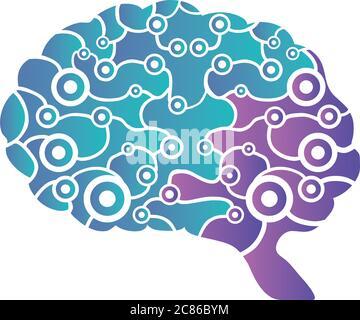 pensamiento cerebral y diseño sobre fondo blanco vector ilustración diseño Foto de stock