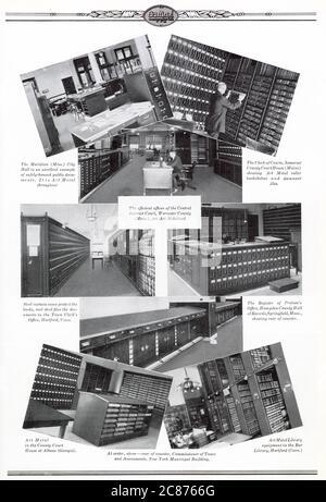 Art Metal Steel equipos de oficina, Jamestown, Nueva York, EE.UU. - Fotografías de equipos de oficina en las oficinas de los clientes. Fecha: 1926