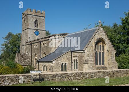 Inglaterra, Oxfordshire, Iglesia de Heyford Superior