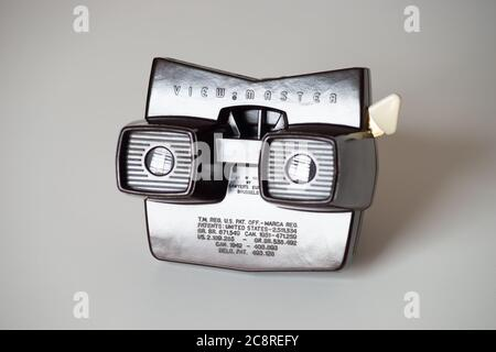 Viewmaster (o View-Master) modelo E bakelite 3D película de diapositivas carrete de la década de 1950/60