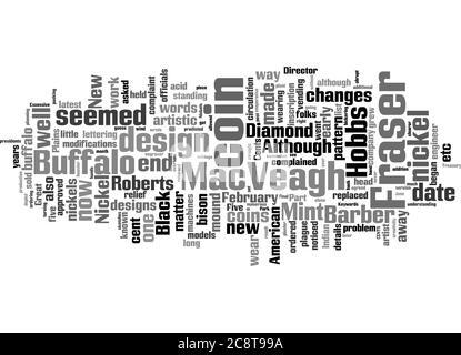 Word Cloud Resumen de la historia del níquel búfalo parte II Artículo