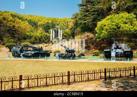 Cheonan, Corea - 28 de abril de 2020 : Parque memorial Taejosan