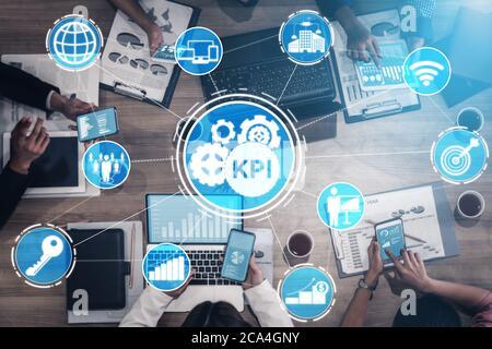 Indicador clave de rendimiento de KPI para el concepto de negocio.