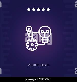 idea vector icono ilustración moderna Foto de stock