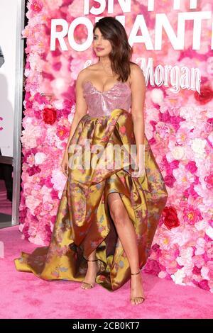 """LOS ANGELES - FEB 11: Priyanka Chopra en el estreno mundial """"no es romántico"""" en el Teatro del Ace Hotel el 11 de febrero de 2019 en los Angeles, CA"""