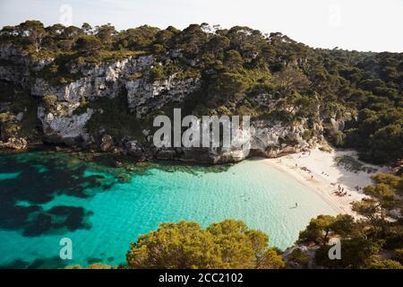 España, Menorca, Vista de Cala Macarelleta