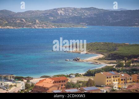Italia, Cerdeña, provincia de Sassari, Palaos, Vista de Palaos