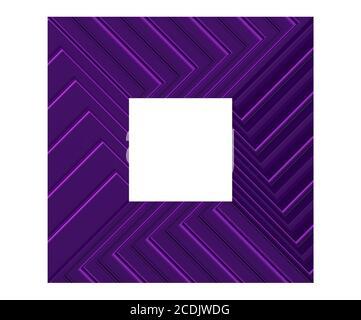 un marco metálico ancho púrpura, presentación en 3d